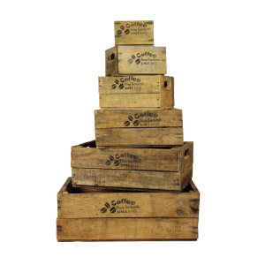 wooden coffee crates