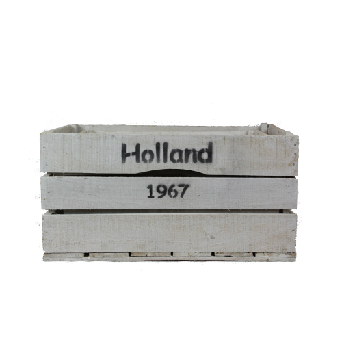 White wooden Holland crates