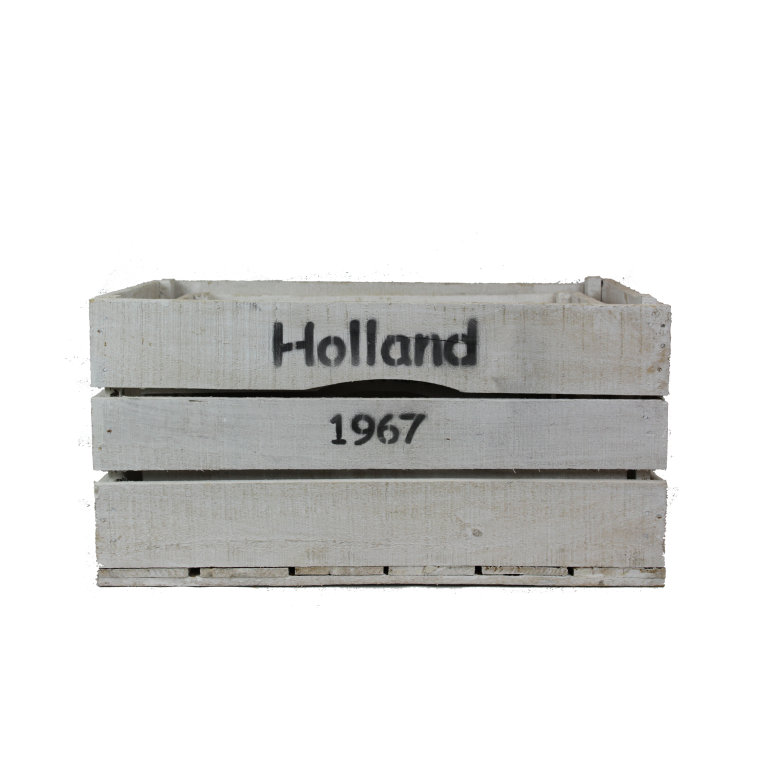 Witte houten Holland kisten