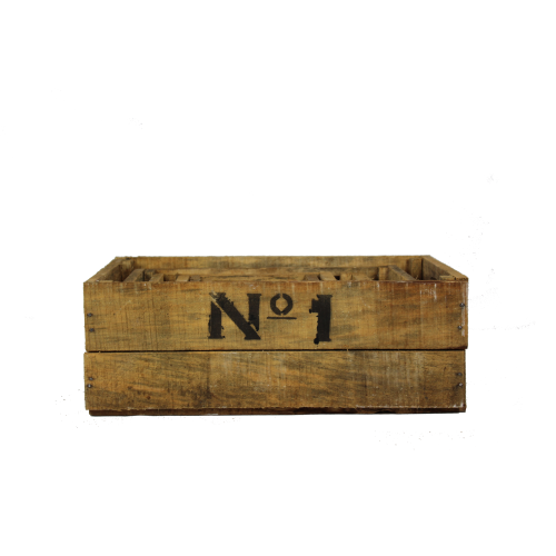 Wooden number crates