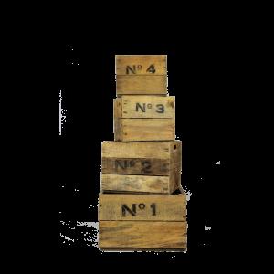 Wooden Nº1234 crates
