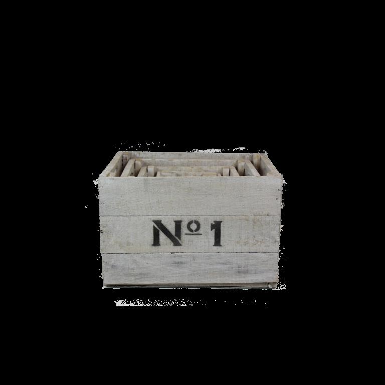Witte houten Nº1234 kisten