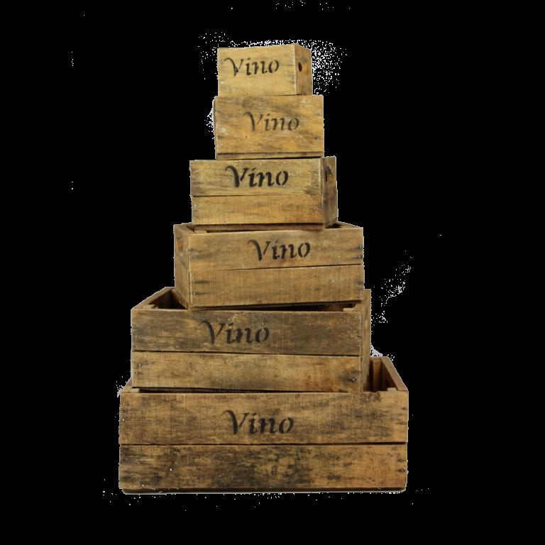 Houten vino kisten