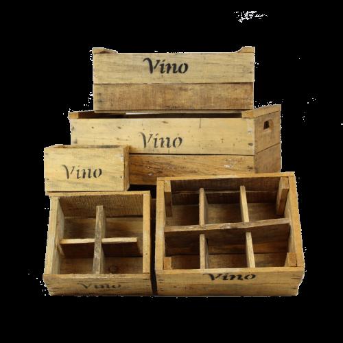 wooden vino crates