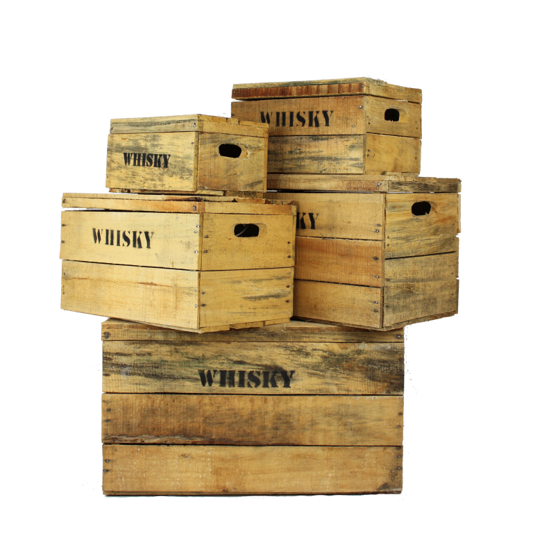 Houten whisky kisten